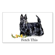 Scottish Terrier Holiday Dog Rectangle Decal