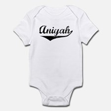 Aniyah Vintage (Black) Infant Bodysuit