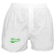 Aleah Vintage (Green) Boxer Shorts