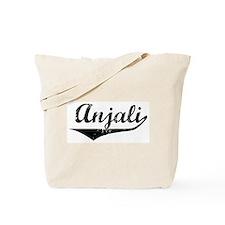 Anjali Vintage (Black) Tote Bag