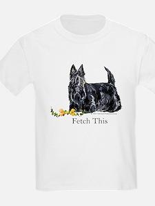 Scottish Terrier Holiday Dog T-Shirt