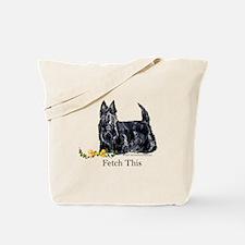 Scottish Terrier Holiday Dog Tote Bag