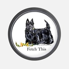 Scottish Terrier Holiday Dog Wall Clock