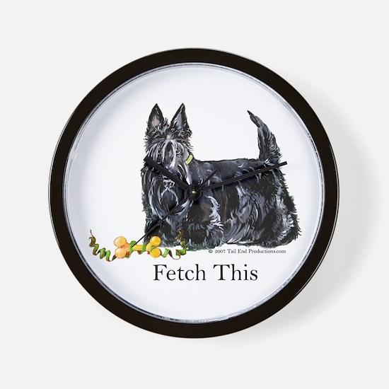 Scottish Terrier Holiday Dog Wall Clock