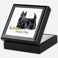 Scottish Terrier Holiday Dog Keepsake Box