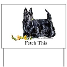 Scottish Terrier Holiday Dog Yard Sign