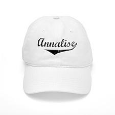 Annalise Vintage (Black) Baseball Cap