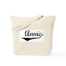 Annie Vintage (Black) Tote Bag