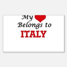 My Heart Belongs to Italy Decal