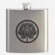 Lotus bloom in circle Flask