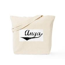 Anya Vintage (Black) Tote Bag