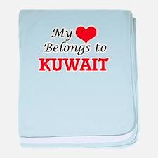 My Heart Belongs to Kuwait baby blanket
