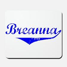 Breanna Vintage (Blue) Mousepad
