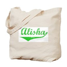 Alisha Vintage (Green) Tote Bag