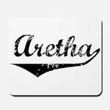 Aretha Vintage (Black) Mousepad