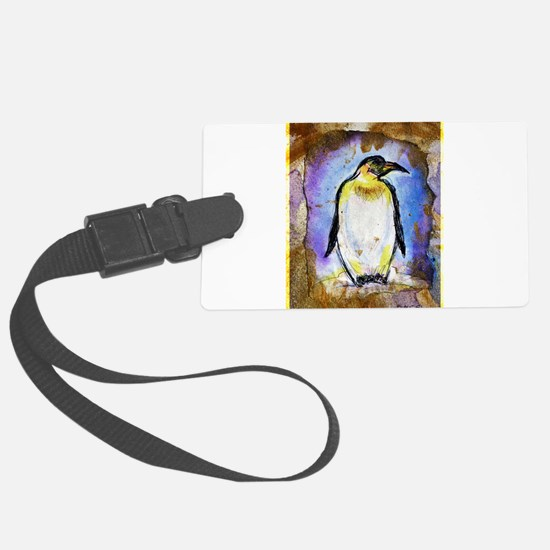 Penguin! Wildlife art! Luggage Tag
