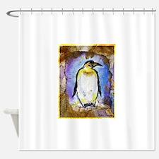 Penguin! Wildlife art! Shower Curtain