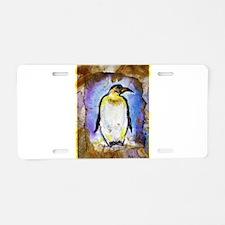 Penguin! Wildlife art! Aluminum License Plate