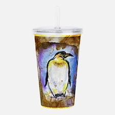 Penguin! Wildlife art! Acrylic Double-wall Tumbler