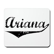 Ariana Vintage (Black) Mousepad