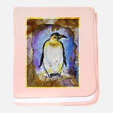 Penguin! Wildlife art! baby blanket