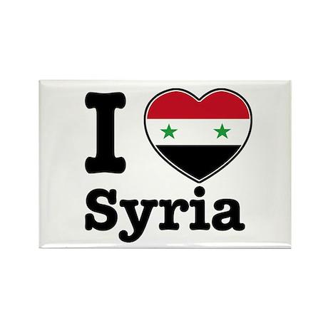 I love Syria Rectangle Magnet (100 pack)