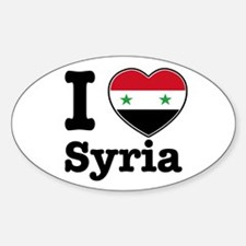 I love Syria Oval Decal