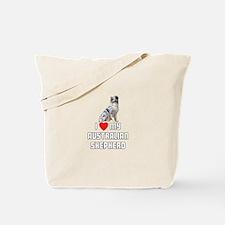 I Love My Australian Shepherd Tote Bag