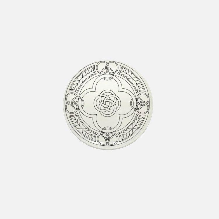 Cute Celtic lion Mini Button