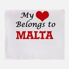 My Heart Belongs to Malta Throw Blanket