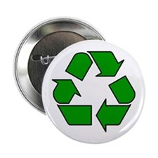 "Recycling Symbol 2.25"" Button"