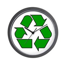 Recycling Symbol Wall Clock