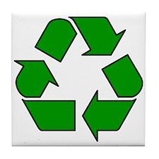 Recycling Symbol Tile Coaster