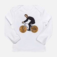 Abraham Lincoln On A Bike With Long Sleeve T-Shirt