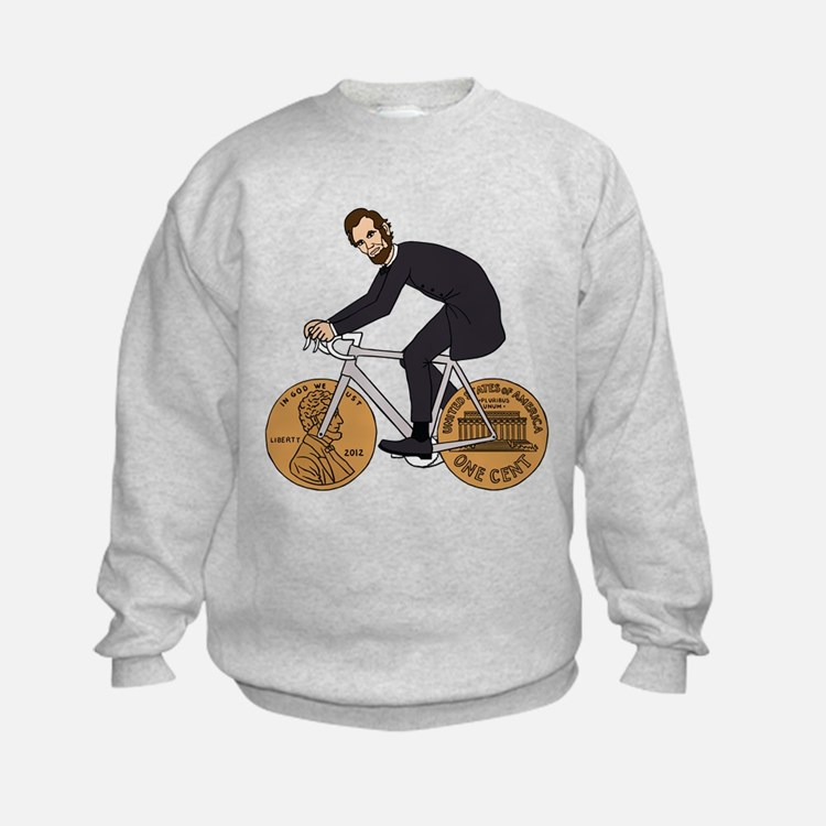 Abraham Lincoln On A Bike With Pen Sweatshirt