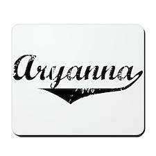 Aryanna Vintage (Black) Mousepad