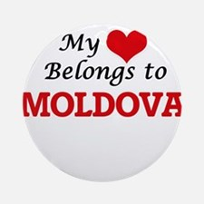 My Heart Belongs to Moldova Round Ornament