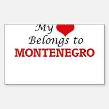 My Heart Belongs to Montenegro Decal