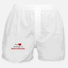 My Heart Belongs to Montenegro Boxer Shorts