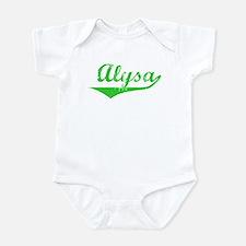 Alysa Vintage (Green) Infant Bodysuit