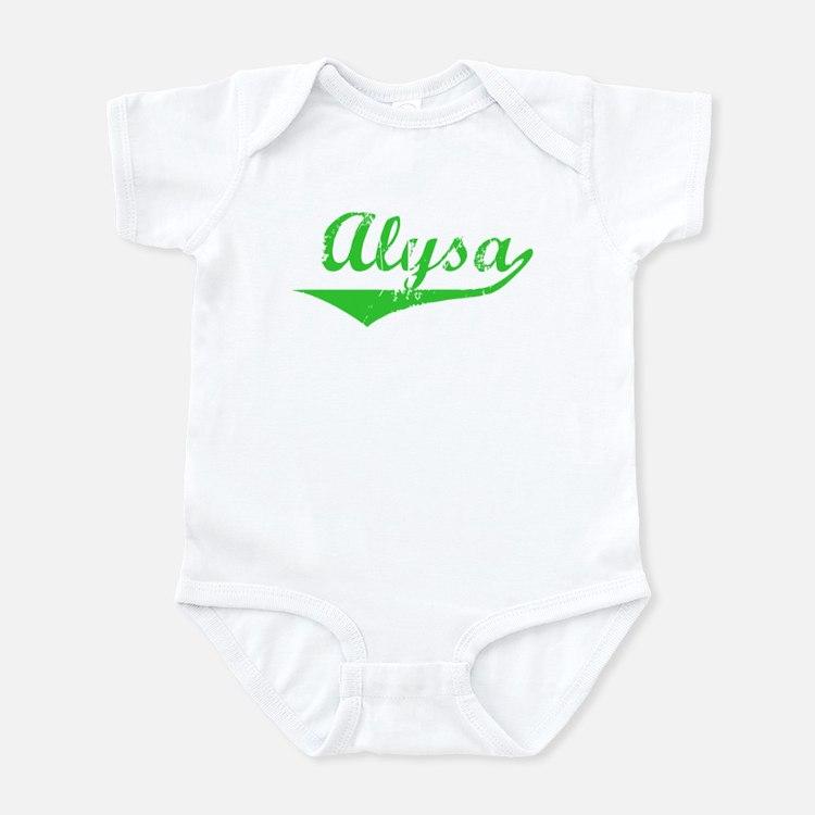 Alysa Vintage (Green) Onesie