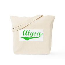 Alysa Vintage (Green) Tote Bag