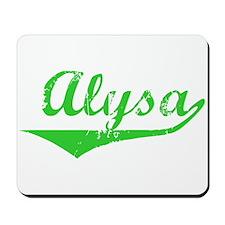 Alysa Vintage (Green) Mousepad