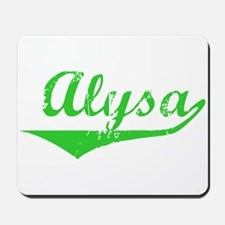 Alysa Vintage (Green) Mousepad