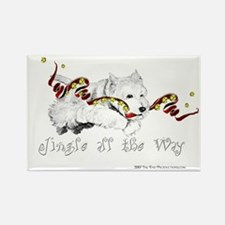 Westhighland Terrier Holiday Rectangle Magnet
