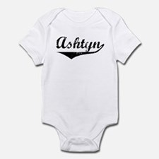 Ashtyn Vintage (Black) Infant Bodysuit