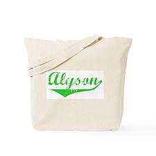 Alyson Vintage (Green) Tote Bag