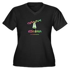 GROOVY IRISH NANA Women's Plus Size V-Neck Dark T-