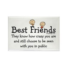 Best Friends Rectangle Magnet