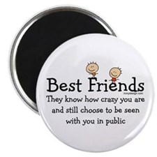 "Best Friends 2.25"" Magnet (10 pack)"